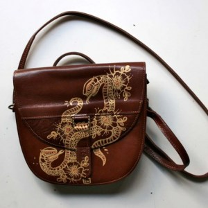 Snakes And Flowers Bag